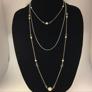 White House Black Market necklace with pearls